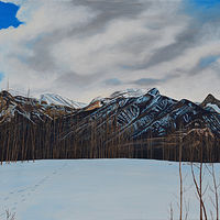 Oil painting Aspen Ridge by David B. Scott