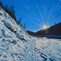 Oil painting Sun Flare by David B. Scott