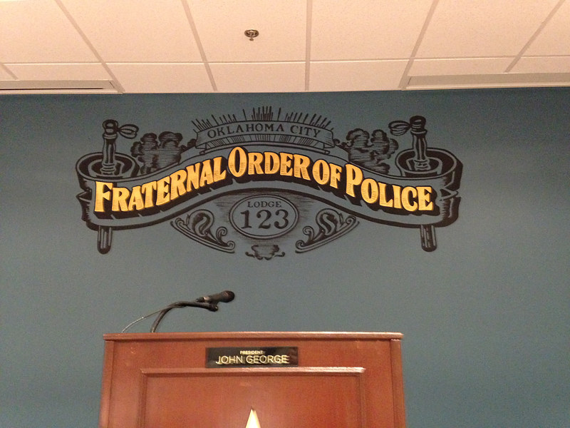 Painting The Fraternal Order Of Police by Elizabeth Mercer