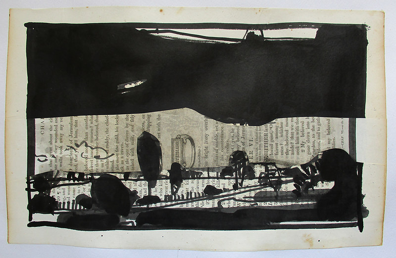 Drawing The Black Pictures, Curtain by Harry Stooshinoff