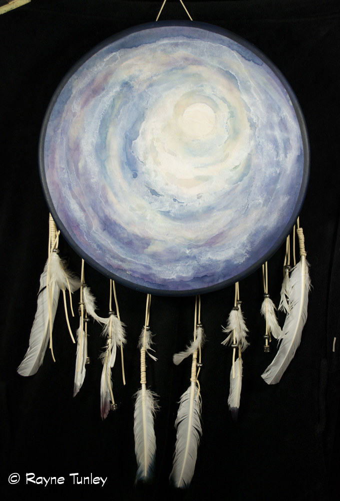 Rayne Tunley, Grandmother Moon, 22in x 30in, watercolour by Rayne Tunley