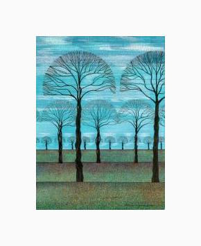 Print Blue Sky Fall ( WM ) by Lawrie  Dignan