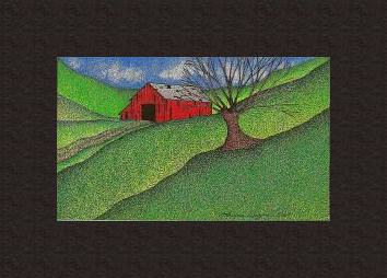 Print Red Barn ( BM ) by Lawrie  Dignan