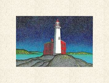 Print Fisgard Lighthouse ( WM )  by Lawrie  Dignan