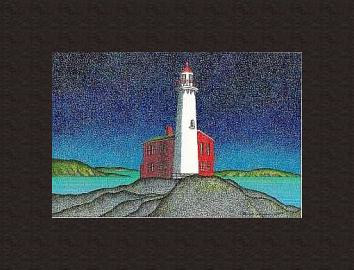 Print Fisgard Lighthouse ( BM )  by Lawrie  Dignan