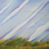 "Land and sky series #17 2"" x 30"" by Lisa Tomczeszyn"