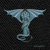 "Print Dragon T, Silver 5x7"" print by Sue Ellen Brown"