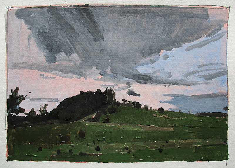 Acrylic painting Lost Dog Hill, May 26 by Harry Stooshinoff