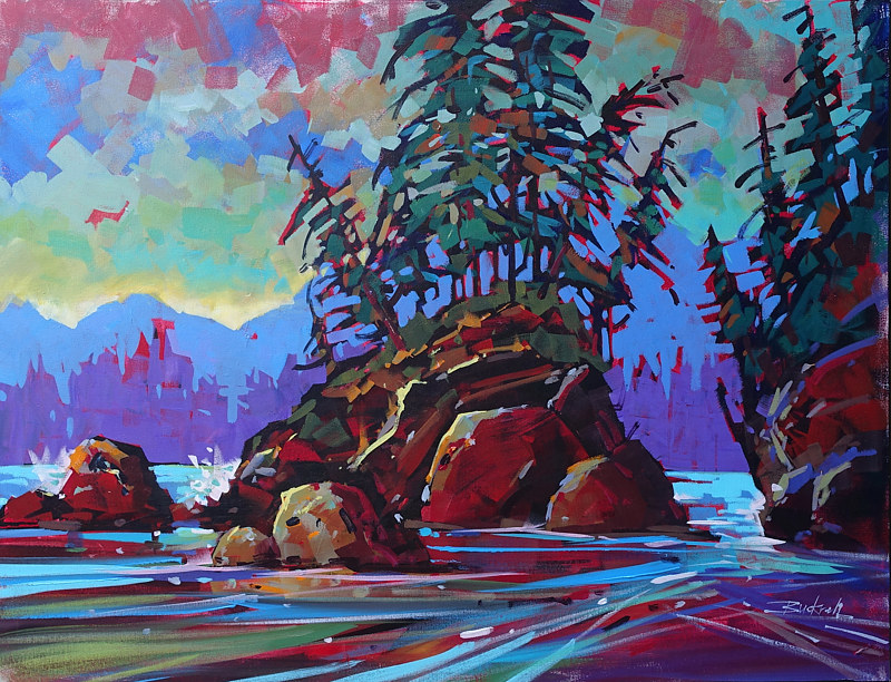 Along the West Coast Trail   Acrylic 30x40 2017 by Brian  Buckrell