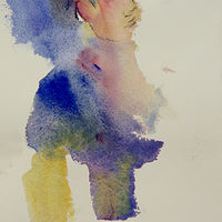 Watercolor woman by Madeline Shea