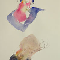 Watercolor woman with opposite by Madeline Shea