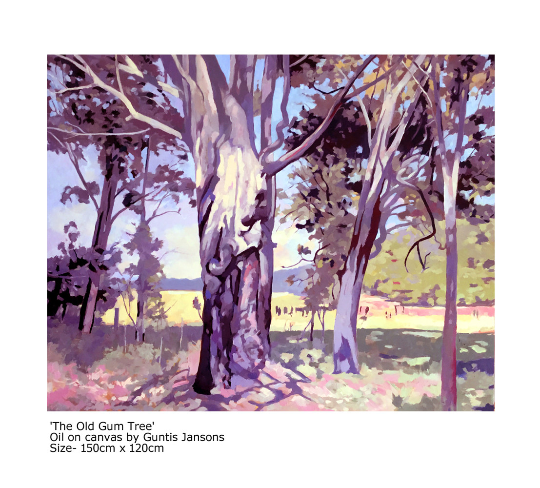 Oil painting The Old Gum Tree  by Guntis Jansons