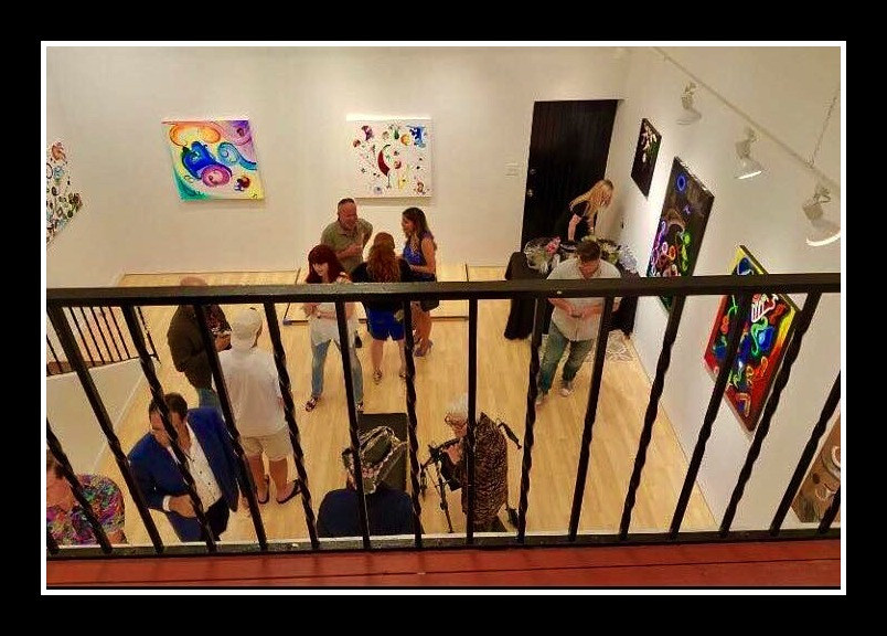 balcony at Samara Gallery by Ann Marie  Vancas