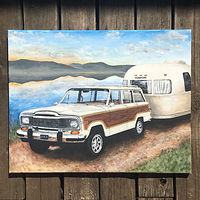 Acrylic painting Gone Camping  by Stuart  Sampson