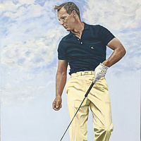 Acrylic painting Arnie by Stuart  Sampson