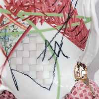 Mixed-media artwork Cornered in and Framed Through (detail) by Darien Arikoski-johnson
