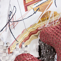 Mixed-media artwork Just in the is Fleeting (detail) by Darien Arikoski-johnson
