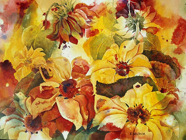 Watercolor Sunshine by Vicki Allesia