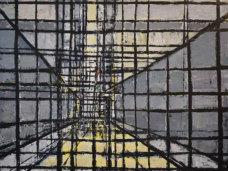 Acrylic painting Urban Matrix No. 15 by David Tycho