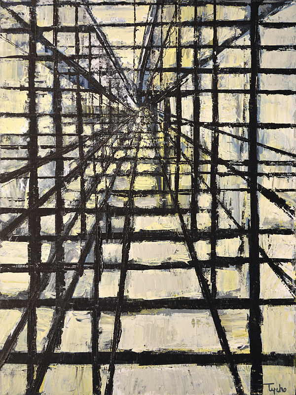 Acrylic painting Urban Matrix No. 17 by David Tycho