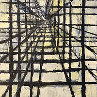 Acrylic painting Urban Matrix #17 by David Tycho
