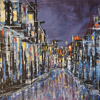 Acrylic painting Urban Composition #23 by David Tycho