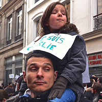 """Parisian Family, March Against Terrorism"" by Hunter Madsen"