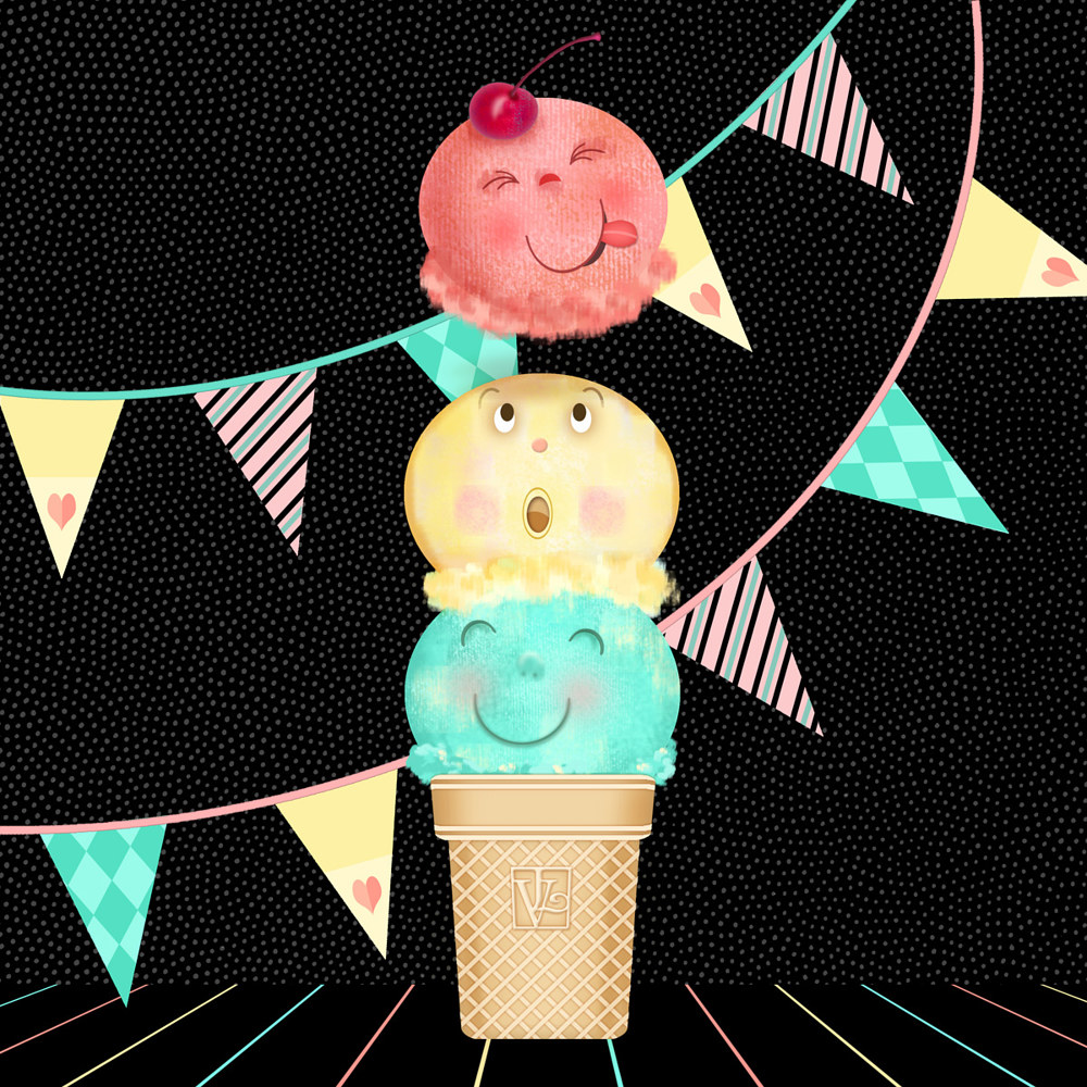 I is for Ice Cream Cone  by Valerie Lesiak