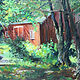 Oil painting Barn at Great Hollow by Elizabeth4361 Medeiros