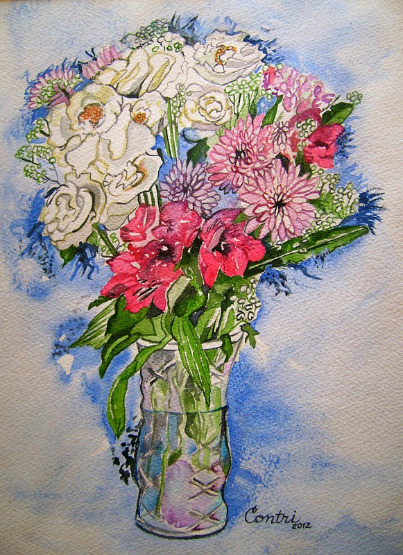 """For Mom"" watercolor by Kathleen Contri"