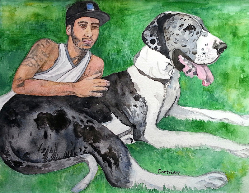 "Painting ""Jacob & Bentley"" by Kathleen Contri"