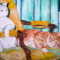 Sammie and Tiger by Kathleen Contri