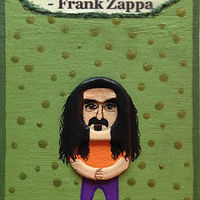 Acrylic painting Frank Zappa by Yumi Knight