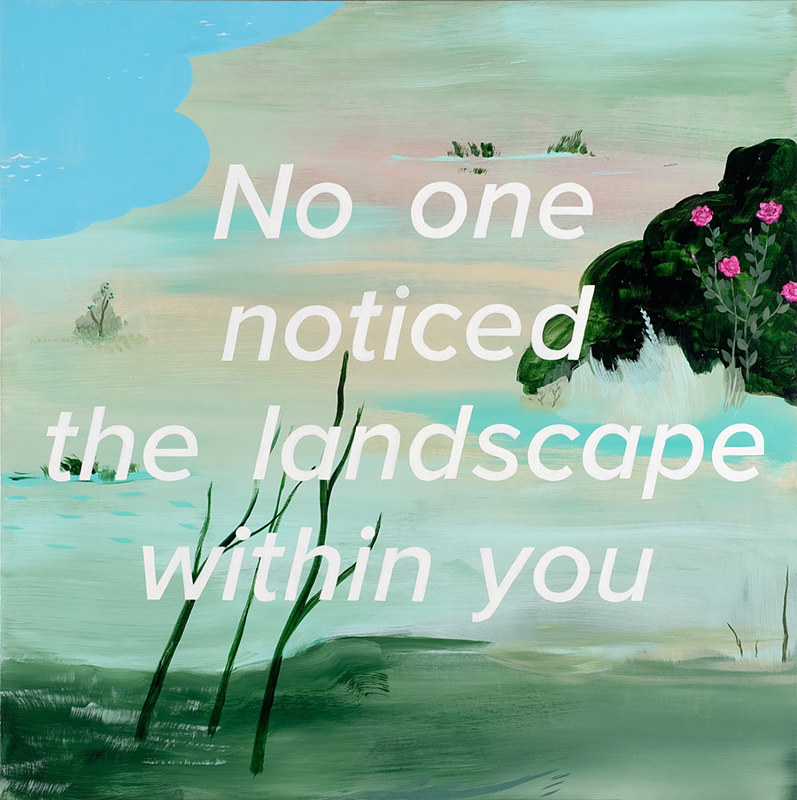 Acrylic painting No One Noticed by Julie Gladstone