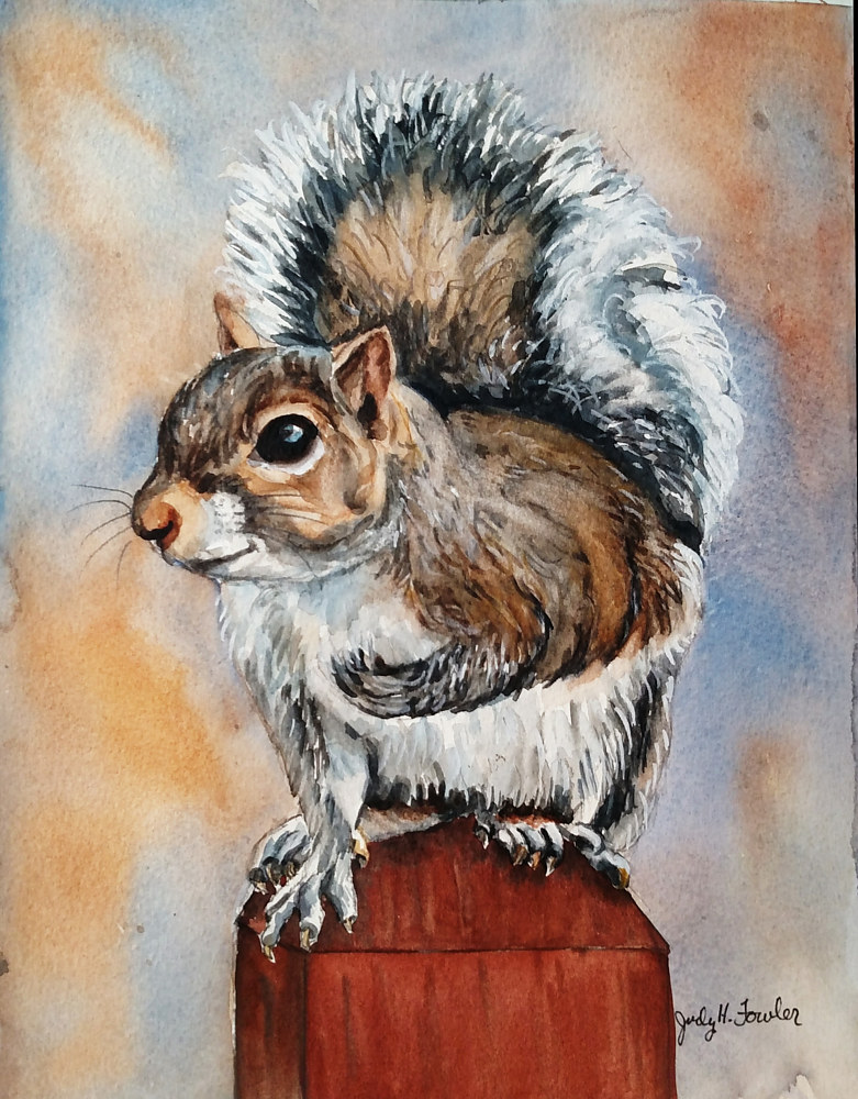 "Painting ""My little Buddy"" by Judy Fowler"