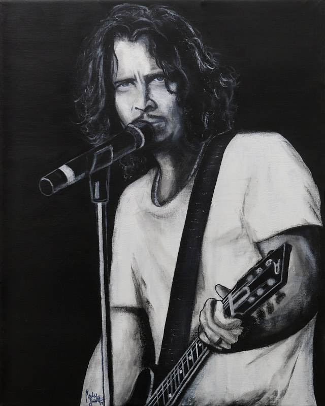 Acrylic painting CHRIS CORNELL by Carly Jaye Smith