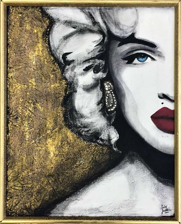 Acrylic painting VOGUE by Carly Jaye Smith