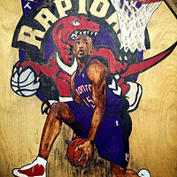 Acrylic painting VINCE CARTER by Carly Jaye Smith