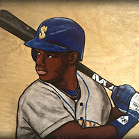 Acrylic painting GRIFFEY by Carly Jaye Smith
