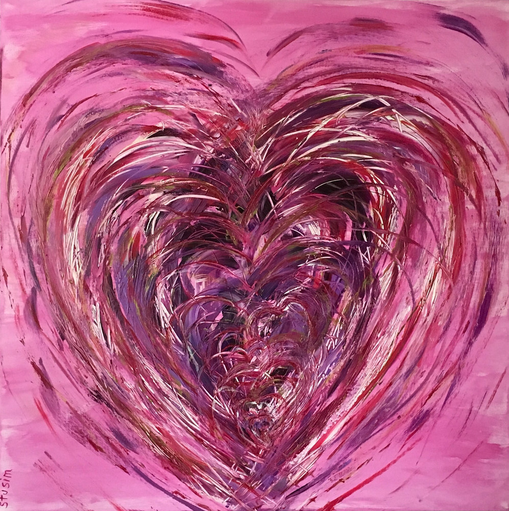 Acrylic painting Atrial Flutter by Steven Simmons