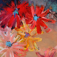 Acrylic painting Focussing on Flowers. by Svetlana Barker