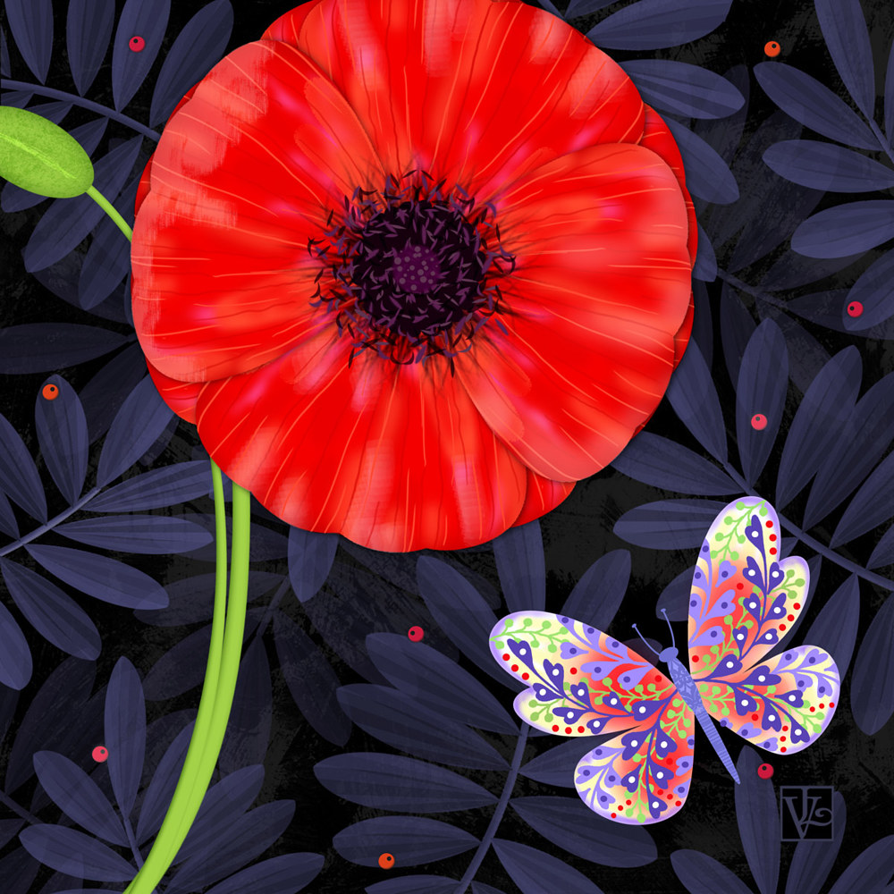 P is for Pretty Poppy  by Valerie Lesiak