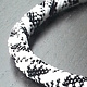 Beaded crochet necklace black and white  by Vicki Allesia