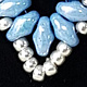 Beaded earring (superduo) delicate blue  by Vicki Allesia