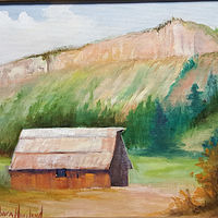 Painting  Barn in  Colorado by Barbara Haviland