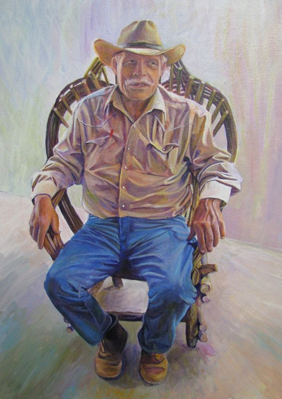 Painting George Beard by Nancy Sharp
