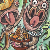 Watercolor Food Frenzy by Kenneth M Ruzic