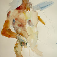 Watercolor man standing  by Madeline Shea