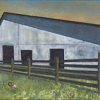"Acrylic painting ""Moe Barn"" by Carol Ross"