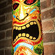 Tiki mask sconce by Dan Cummings
